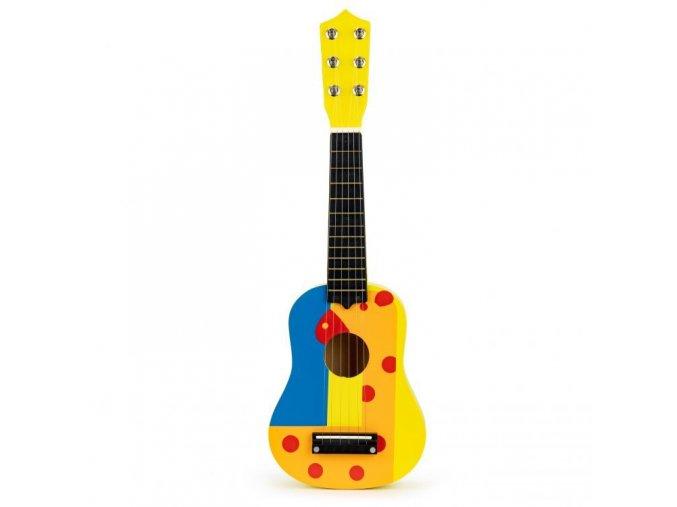 Dětská dřevěná kytara Yellow Giraffe