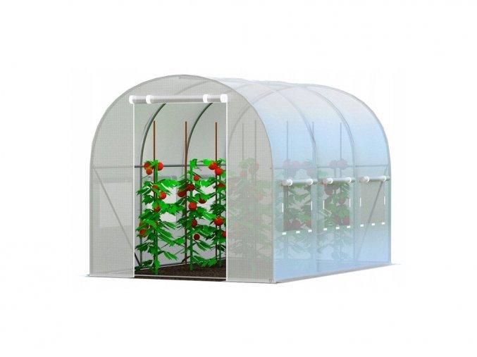 Zahradní fóliovník BÍLÝ 3x8m s UV filtrem PREMIUM