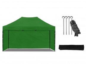 Nůžkový stan 3x4,5 m zelený All-in-One