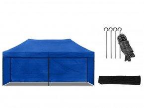Nůžkový stan 3x6 m modrý All-in-One