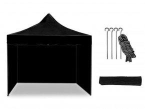 Nůžkový stan 3x3 m černý All-in-One