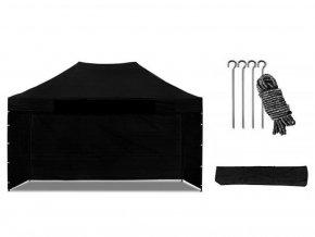 Nůžkový stan 3x4,5 m černý All-in-One