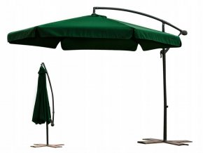Zahradní skládací zelený slunečník 350cm