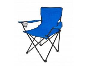 Kempingová rozkládací židle modrá
