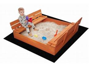 Impregnované pískoviště s lavičkami 180cm + DÁREK