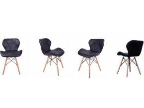 Sada kožených židlí DARK 3+1 ZDARMA!