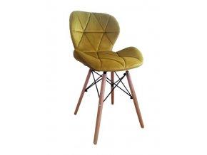 Sametová židle AMBER