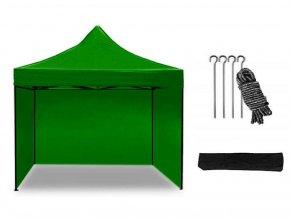 Nůžkový stan 2,5x2,5 m zelený All-in-One