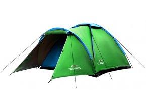 Turistický stan pre 4 osoby Zelený FLEXIFIT