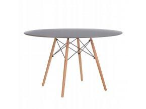 Kulatý stůl ANELLO Grey 100 cm