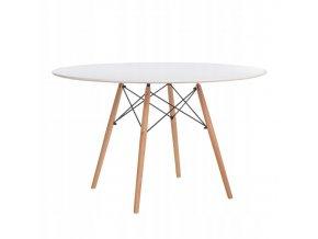 Kulatý stůl ANELLO White 120 cm