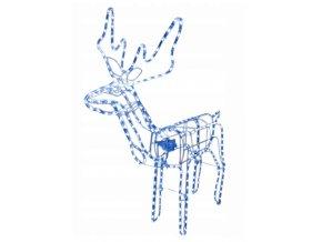 vianocna dekoracia svietiaci sob modra(1)