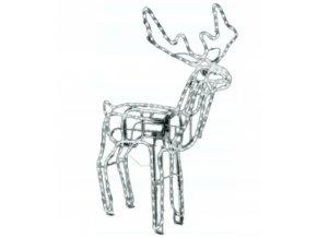vianocna dekoracia svietiaci sob biela(01)