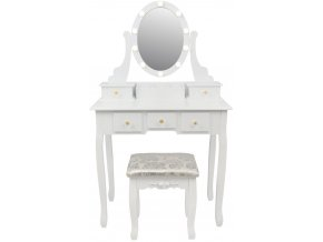 pol pl Toaletka kosmetyczna z lustrem LED i taboretem 2785 2