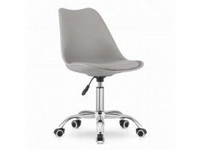 Kancelářská židle šedá skandinávský styl BASIC