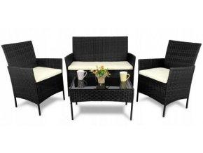 Zahradní ratanový nábytek Black Scutum