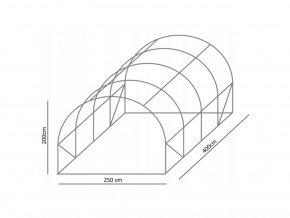 Konstrukce k zahradnímu fóliovníku 2,5x4m STANDARD