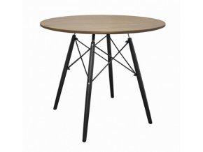 Kulatý stůl ANELLO Dark Ash 100cm