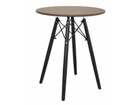 Kulatý stůl ANELLO Dark Ash 60cm