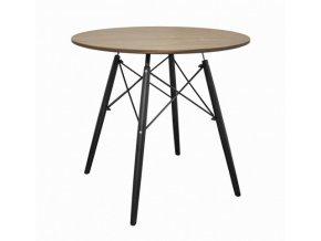 Kulatý stůl ANELLO Dark Ash 80cm