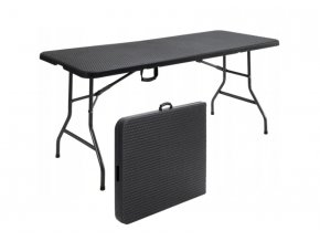 Kempingový stôl 180x75x74cm Camping Black
