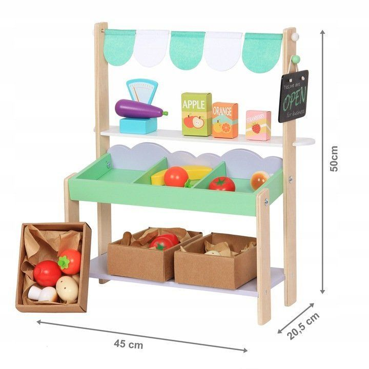 Dětský dřevěný obchod Obláček Ecotoys 8