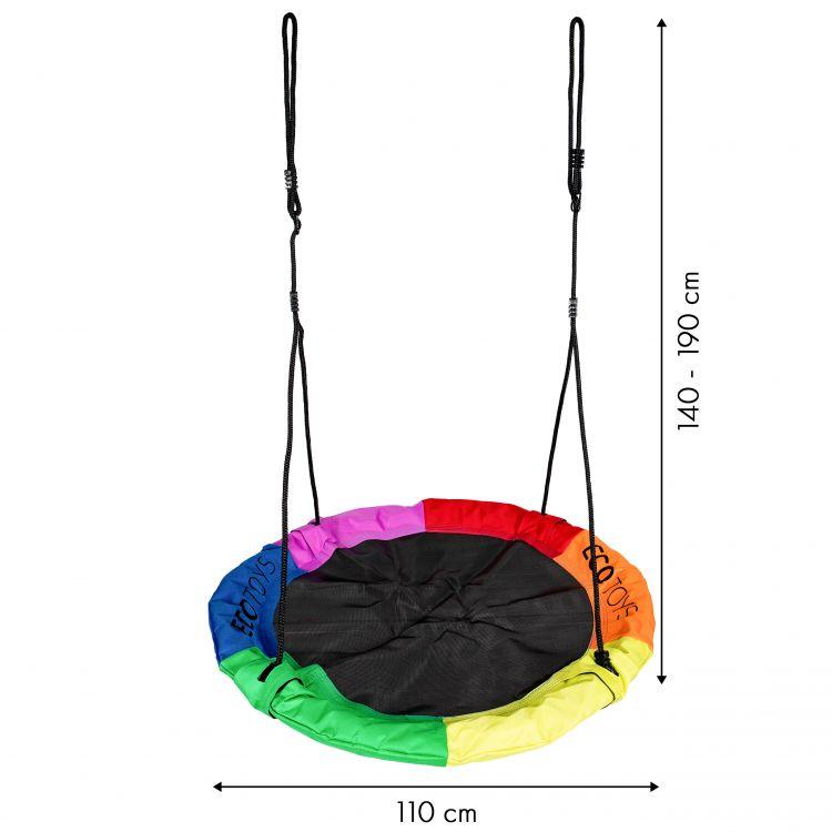 Hojdačka - bocianie hniezdo COLOR 110cm Ecotoys 6