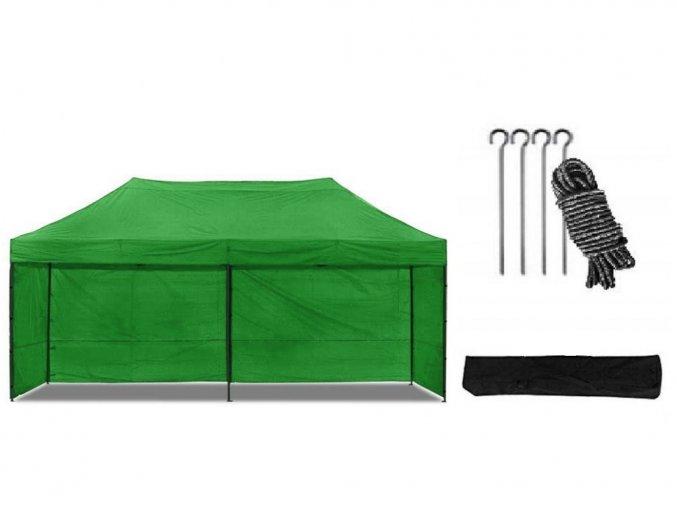 Nožnicový stan 3x6 m zelený All-in-One