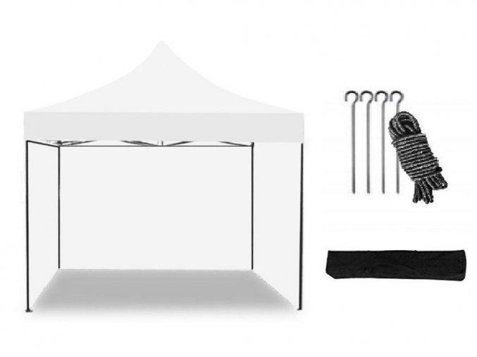 Nožnicový stan 3x3 m biely All-in-One