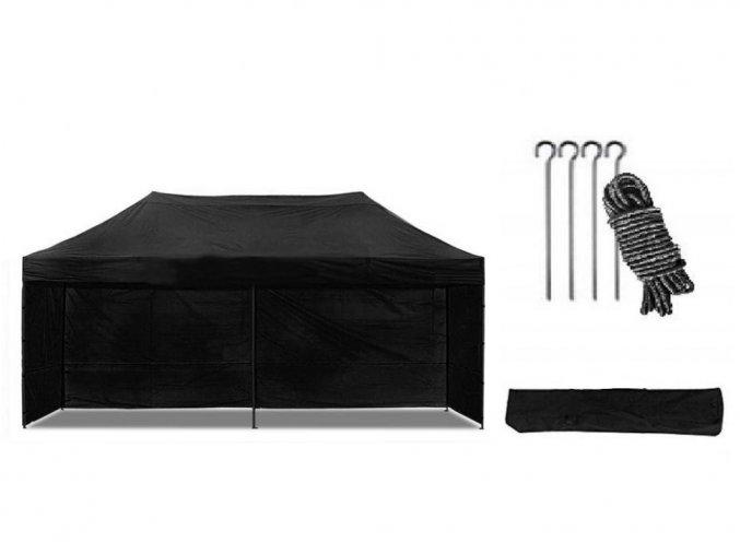 Nožnicový stan 3x6 m čierny All-in-One