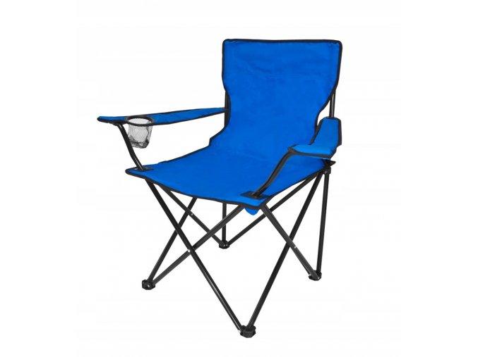 Kempingová rozkladacia stolička modrá