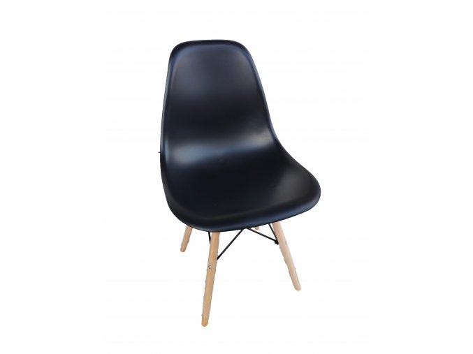 Stolička čierna škandinávsky štýl CLASSIC