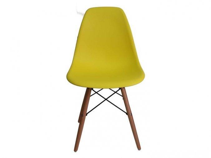 66673785 pad 720 540 krzeslo skandynawskie iris dsw zolte metal drewno glebokosc 40 cm metal wysokosc 41 cm tworzywo sztu