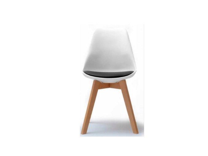 Stolička bielo-čierna škandinávsky štýl BASIC