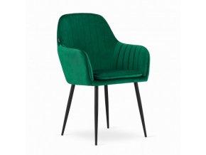 Zamatová stolička Smaragd VELVET