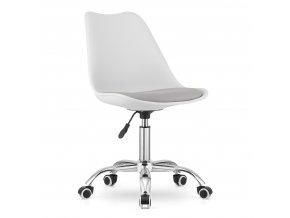 Kancelarska stolicka bielo seda skandinavsky styl BASIC 1 – kópia