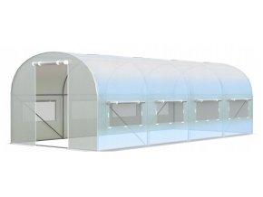 Záhradný fóliovník BIELY 3x6m s UV filtrom PREMIUM - 2x dvere