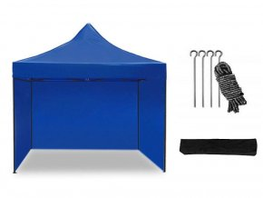 Nožnicový stan 3x3 m modrý All-in-One