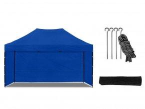 Nožnicový stan 3x4,5 m modrý All-in-One