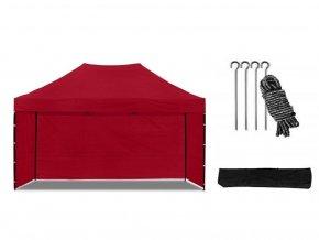 Nožnicový stan 3x4,5 m červený All-in-One