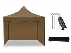 Nožnicový stan 3x3 m hnedý All-in-One