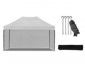 Nožnicový stan 3x4,5 m biely All-in-One