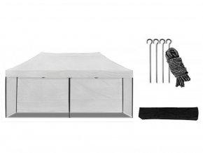 Nožnicový stan 3x6 m biely All-in-One