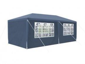 Zahradný altánok 3x6m skladací + 6 stien, tmavo modrý