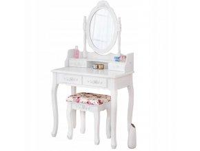 Toaletný stolík Primadonna ROSE  + darček LED make-up zrkadlo
