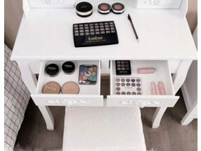 Toaletný stolík Princess  + darček LED make-up zrkadlo