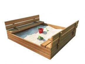 Impregnované pieskovisko s lavičkami 160cm
