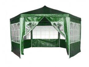 Záhradný altánok 2x2x2m skladací + 6 stien s oknom zelený