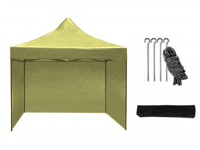 Nožnicový stan 2x2 m béžový All-in-One