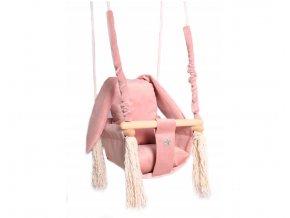 Detská drevená hojdačka pinkBunny